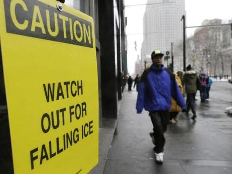 It's difficult to know how many people are hit by ice falling from buildings, but it's something that happens worldwide.
